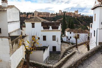 Corner Albaicin neighborhood in Granada.