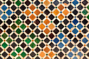 Arabic tiles background. Alhambra of Granada.