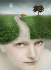 Photo sur Toile Surrealisme Traveling with Fantasy