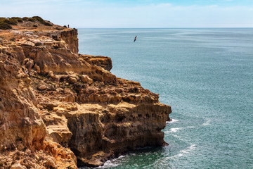Wall Mural - Algarve coast sand cliffs Portugal