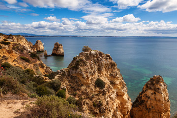 Wall Mural - View of beautiful coastline Algarve Portugal