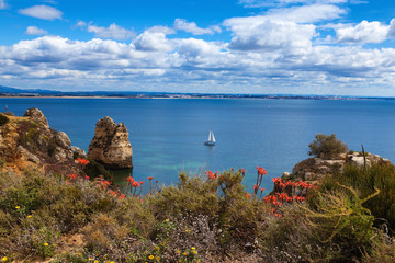 Wall Mural - Wonderful view of beautiful coastline Algarve Portugal