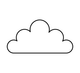 cloud silhouette isolated icon vector illustration design