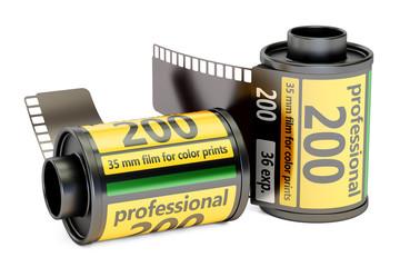 Camera Film Rolls, 3D rendering