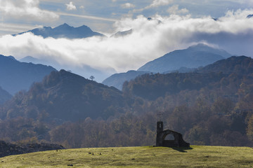 Buen Pastor hermitage (Lakes of Covadonga, Asturias - Spain).
