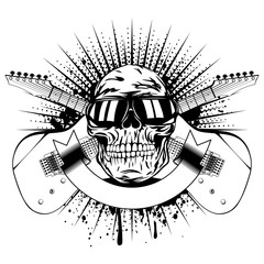 guitars skull_var 9