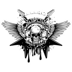 guitars wings skull_var 7