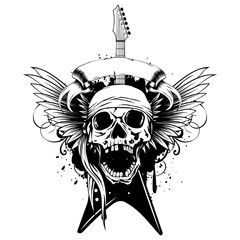 wings guitar skull_var 2