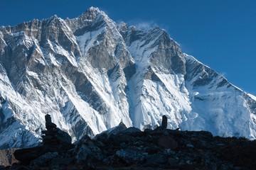 Fototapete - South Face of Mt. Lhotse from Imja Glacier, Himalayas, Solu Khumbu, Nepal