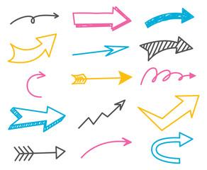 Arrow doodle set