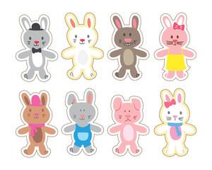 cartoon bunny patch