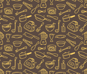 cooking utensil seamless background