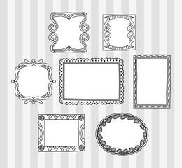 Set of frame doodle