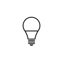 light bulb icon isolated on white background