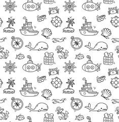 cartoon nautical background