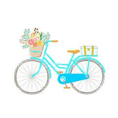 Blue Bike  with full of flower