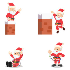 santa 9 cartoon set