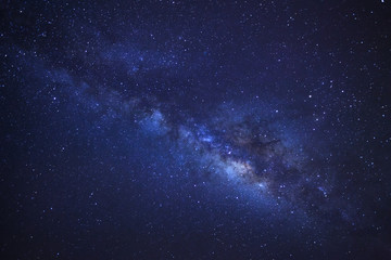 Milky Way galaxy, Long exposure photograph, with grain...