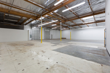 Large vacant warehouse