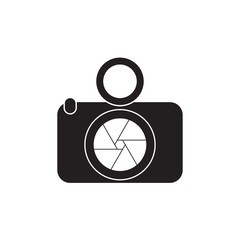 Camera Icon in trendy flat style isolated on white background. Camera symbol for your web site design, logo, app, UI, graphic Vector illustration,
