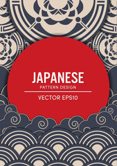 Japanese pattern design vector EPS10