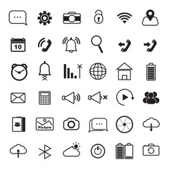Mobile smart phone Icon vector set for mobile application, mobile icon , for connection device.