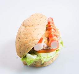 sandwich or health sandwich on the background.