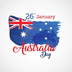 Happy Australia Day Vector illustration. Suitable for Greeting card, poster and banner.