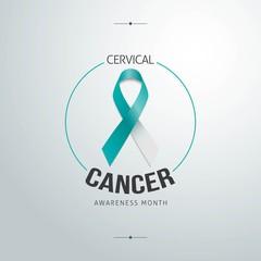 Cervical cancer awareness in January. Vector Illustration