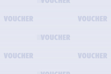 Guilloche seamless background. Monochrome guilloche texture with text Voucher. Digital watermark for security papers, vouchers etc