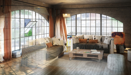 Postindustiral Loft Design (development)