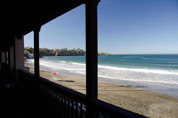 Watching low tide from a gallery of a beach resort - 3