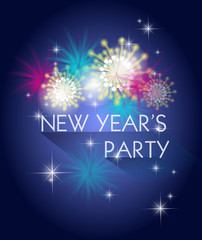 new year's party poster