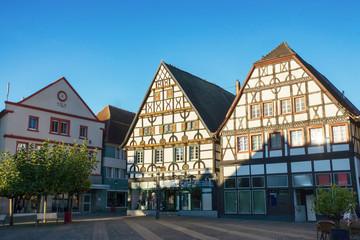 Historische Gebäude am Marktplatz in Unna, Nordrhein-Westfalen