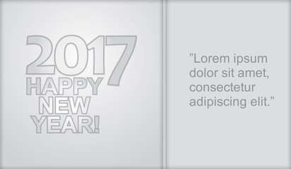 Happy New Year - illustration with business graph