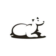 Polar Bear Silhouette Abstract Image Character Illustration