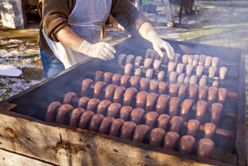 Country sausage smoked traditionally