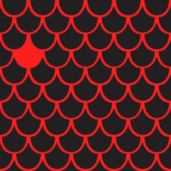 Seamless pattern of black and red squama