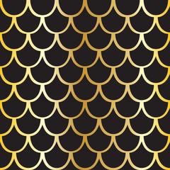 Seamless pattern of black squama