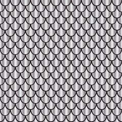 Seamless pattern silver shiny squama