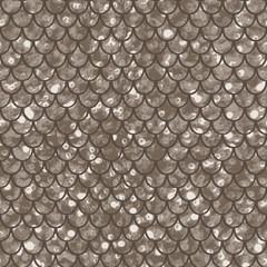 Seamless pattern taupe shiny squama
