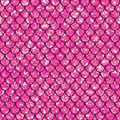 Seamless pattern pink shiny squama