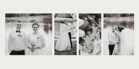 design of wedding photo book, one page