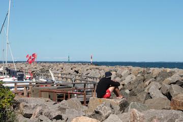 Harbour Lohme, Ruegen, Baltic Sea Germany