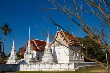 Uthai Thani, Thailand - December, 17, 2016 : Wat Uposatharam Tem