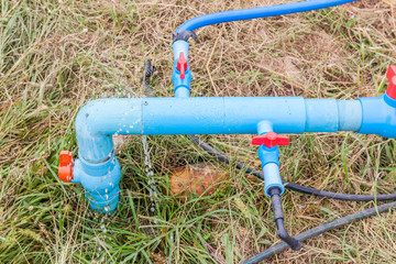 Supply loss, water leakage from plastic pipes system.