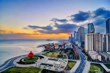 Photo sur Toile Chine City square, Qingdao, China