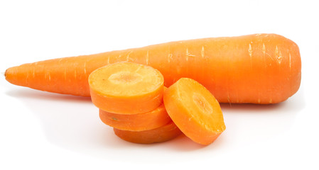 Carrot isolated on the white