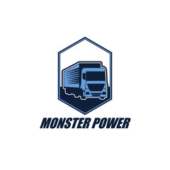Truck Trailer Logo Vector Design Element