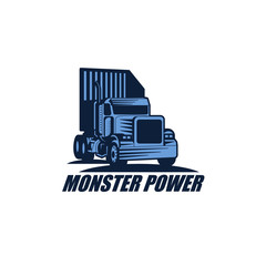 Truck Container Logo Vector Design Element